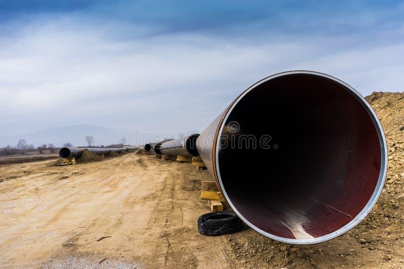 Budowa gazociąg Trans Adriatycki rurociąg - klepnięcie w żadny zdjęcie royalty free