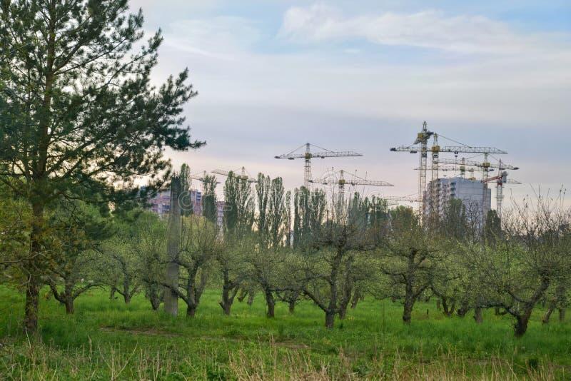 Budowa huk Ukraina obrazy royalty free