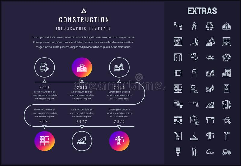 Budowa infographic elementy i szablon ilustracja wektor