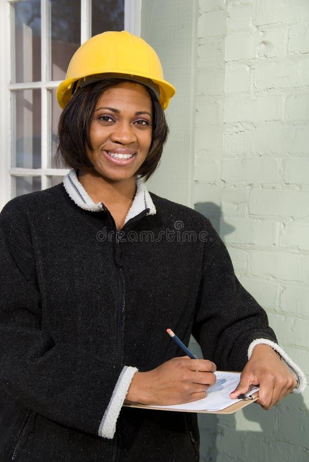 Budowa Inspektor zdjęcie royalty free