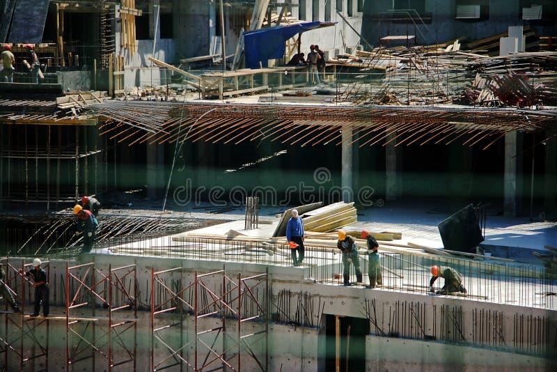Budowa jest reportażu gatunku dalekonośnym planem obrazy stock