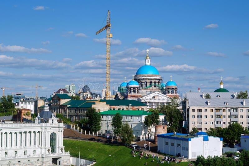 Budowa katedra Kazan ikona matka bóg fotografia royalty free