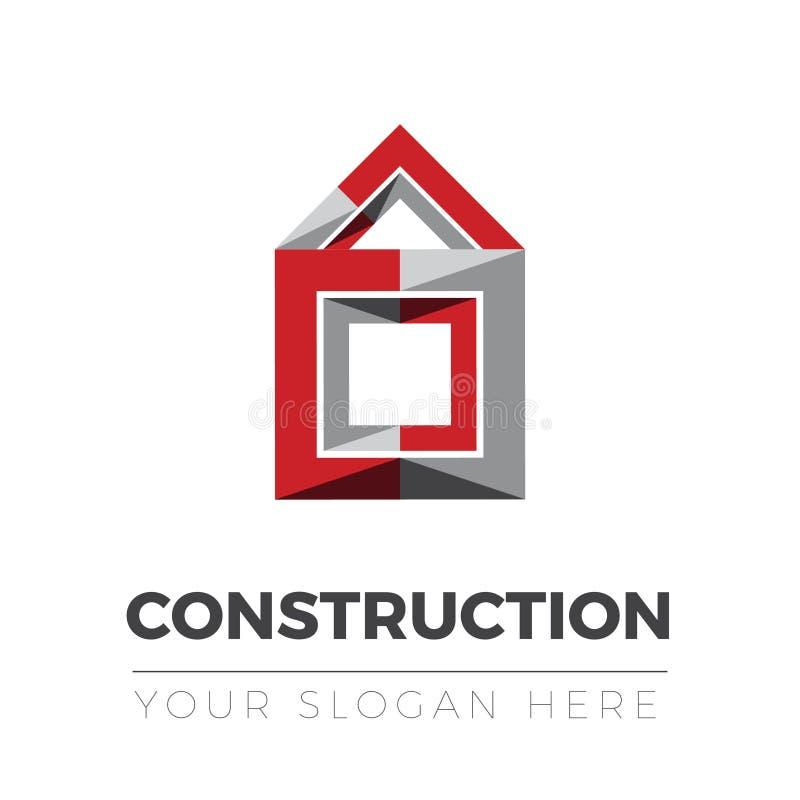Budowa logo ilustracja wektor