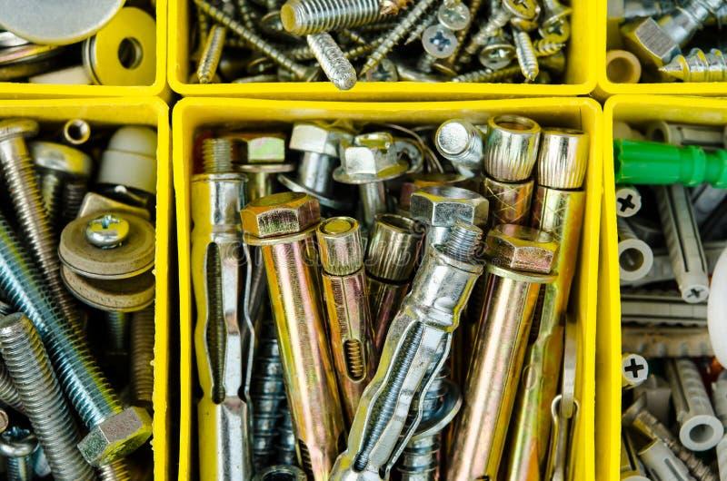 budowa małego sprzeciwia się sprawy Ustawia metal pracy naprawę w b fotografia stock
