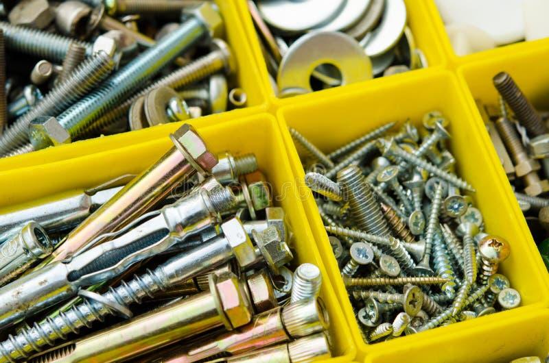 budowa małego sprzeciwia się sprawy Ustawia metal pracy naprawę w b zdjęcia stock