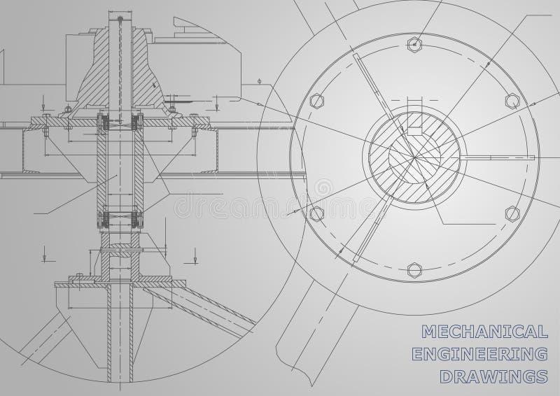 Budowa maszyn rysunki ilustracja wektor
