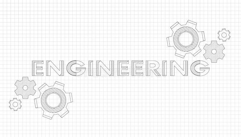 Budowa maszyn rysunki rysunek techniczny t?o abstrakcyjna technologii KONSTRUUJĄCY - nauka, technologia royalty ilustracja
