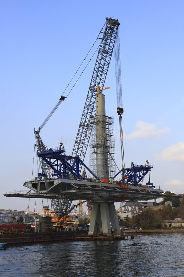 Budowa metro most obraz stock