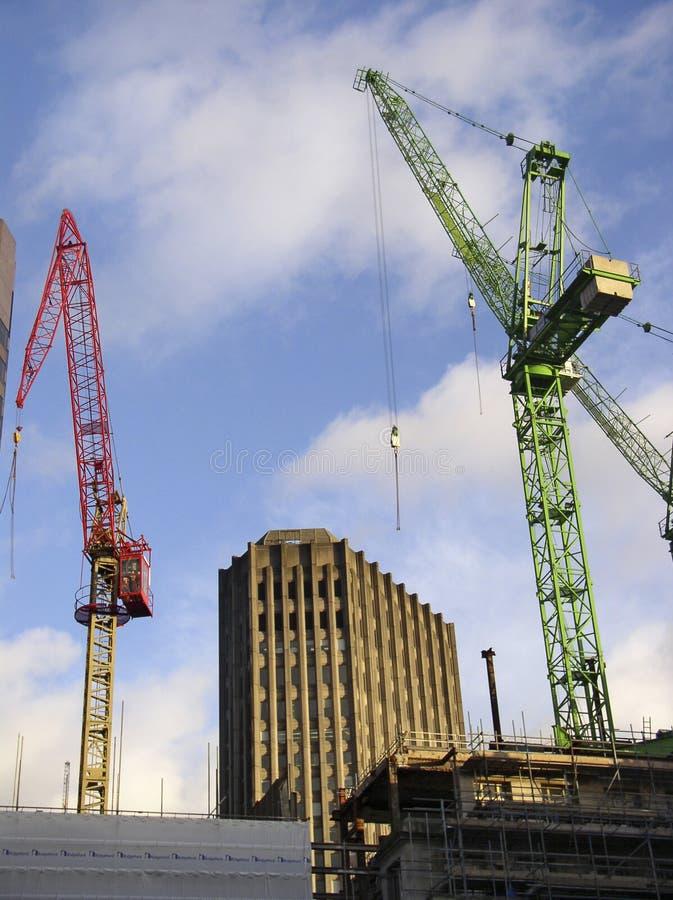 Download Budowa miasta Londynu obraz stock. Obraz złożonej z żurawie - 39313