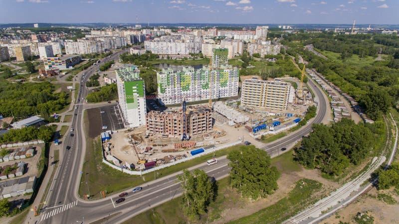 Budowa mieszkaniowy kompleks fotografia stock