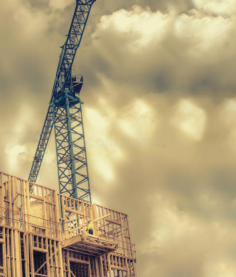 Budowa na nowym budynku fotografia royalty free