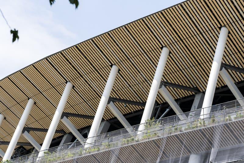 Budowa Nowy Krajowy stadium W Tokio zdjęcie royalty free