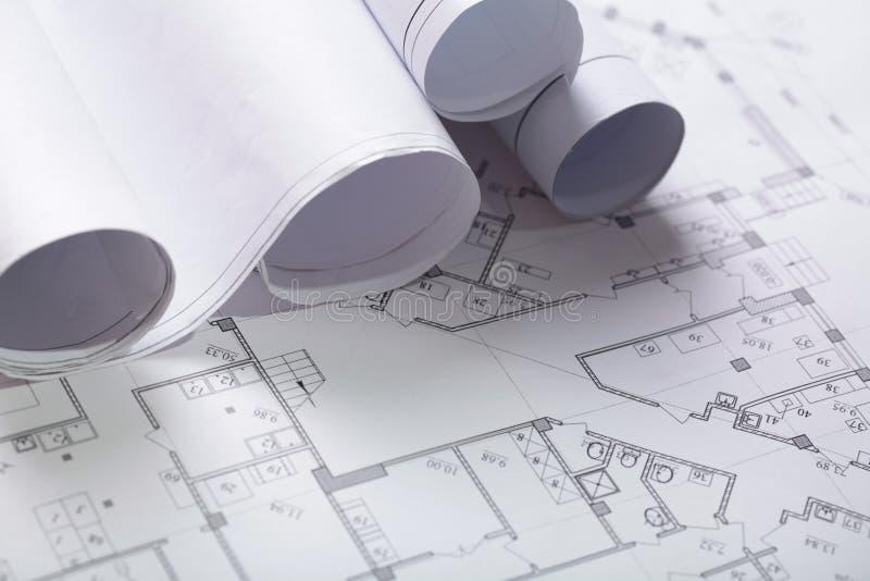 Budowa Planuje zakończenie zdjęcia royalty free
