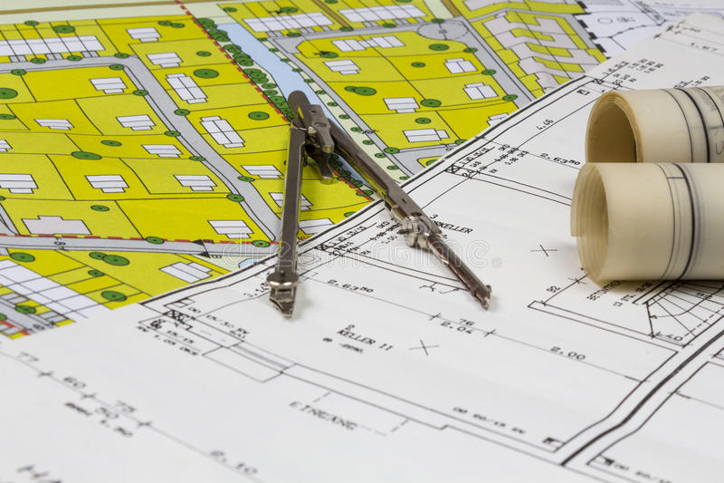 Budowa plany obrazy stock