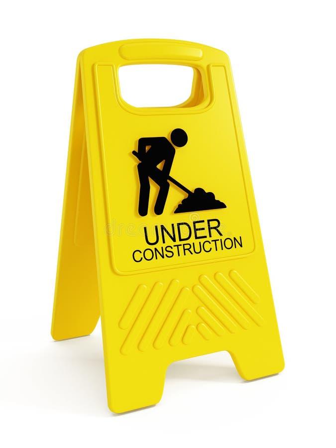 Download Budowa pod ostrze?eniem ilustracji. Ilustracja złożonej z droga - 41955087