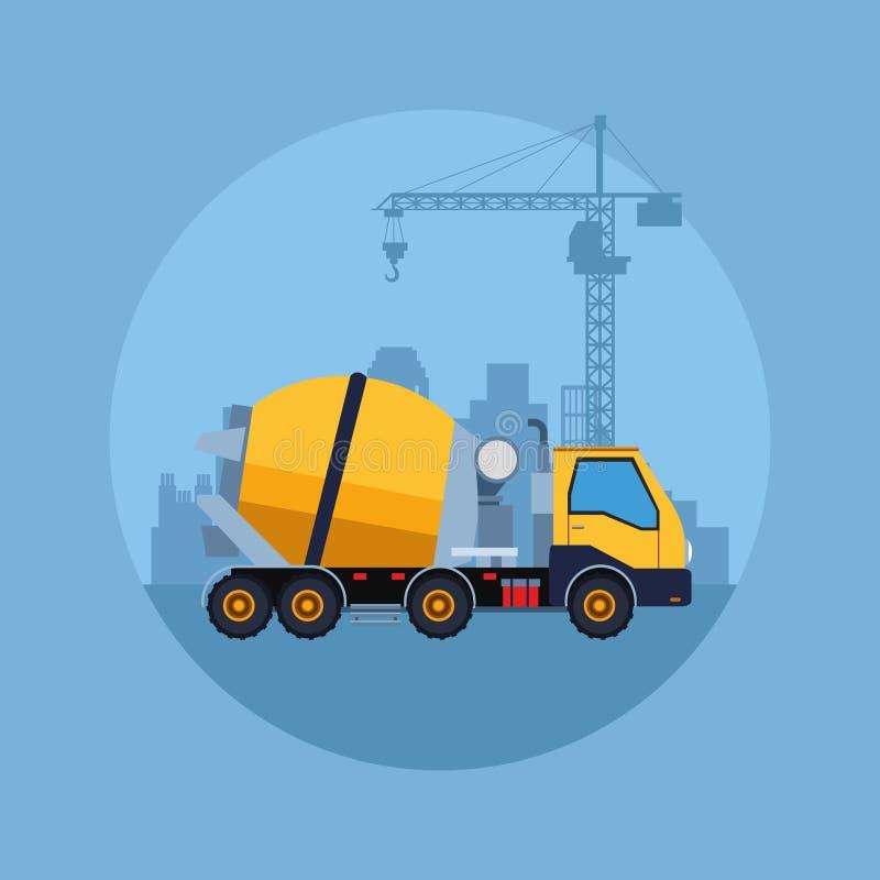 Budowa pojazdu kreskówka ilustracja wektor