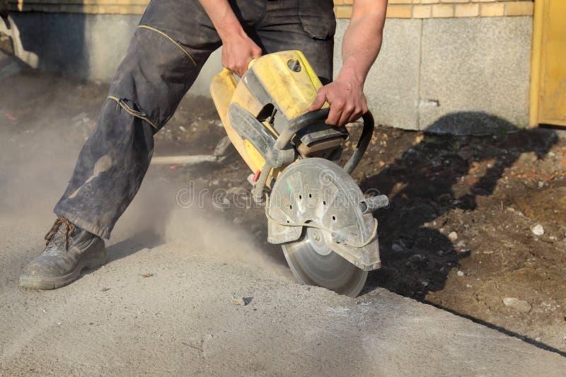 Budowa, pracownik i narzędzie, zdjęcie stock