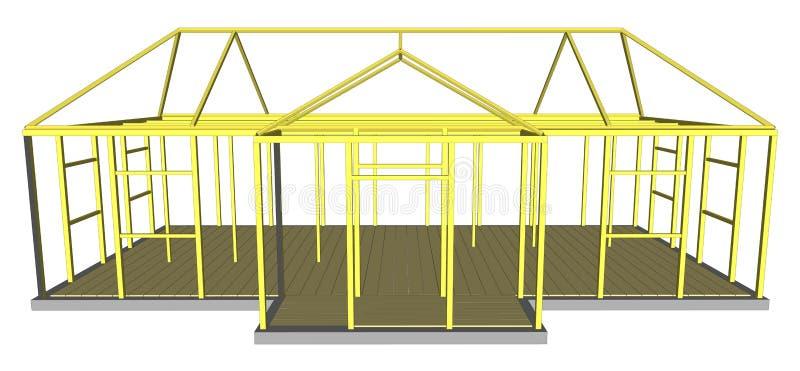 Budowa procesu materiałów i narzędzi budować royalty ilustracja