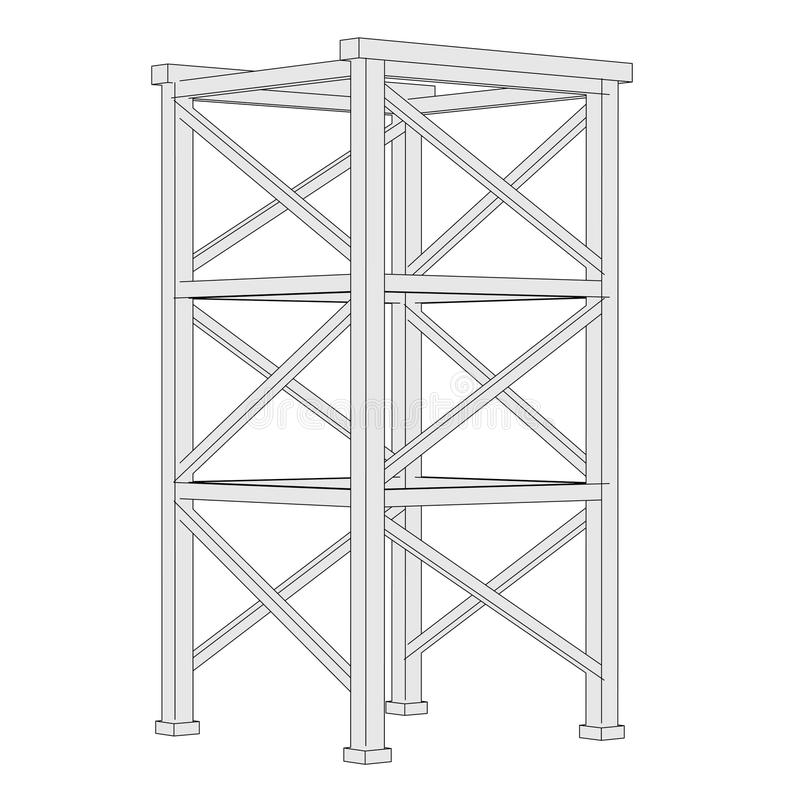 budowa przemysłowej ilustracja wektor