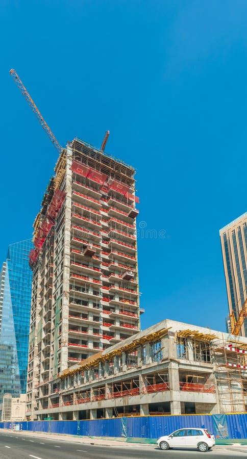Budowa przy Dubaj Marina obrazy royalty free