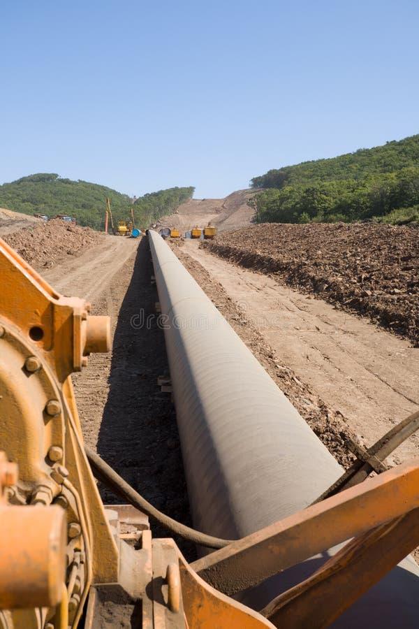 budowa rurociąg naftowy obrazy royalty free