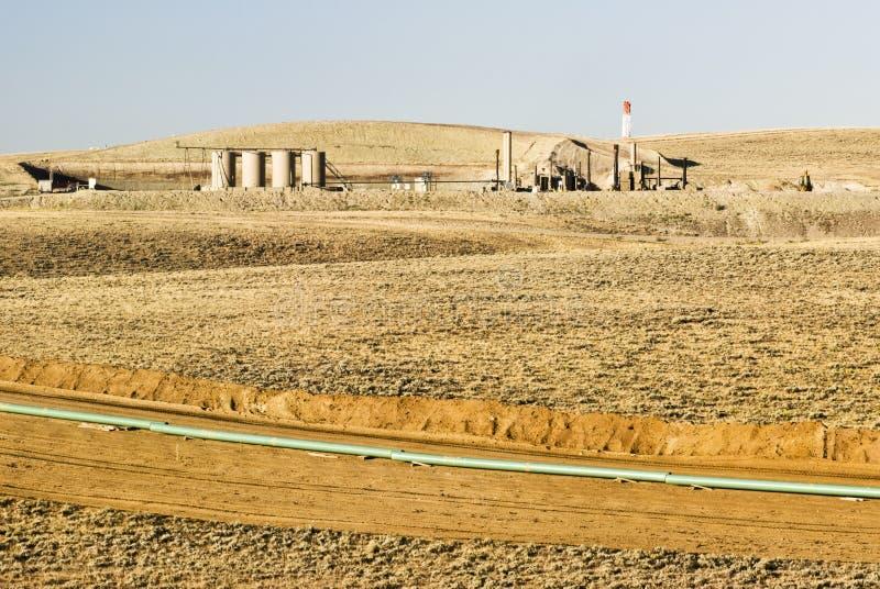 budowa rurociągu zdjęcie royalty free