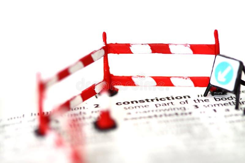 Budowa słownika znaka rożka bariery b zdjęcie royalty free