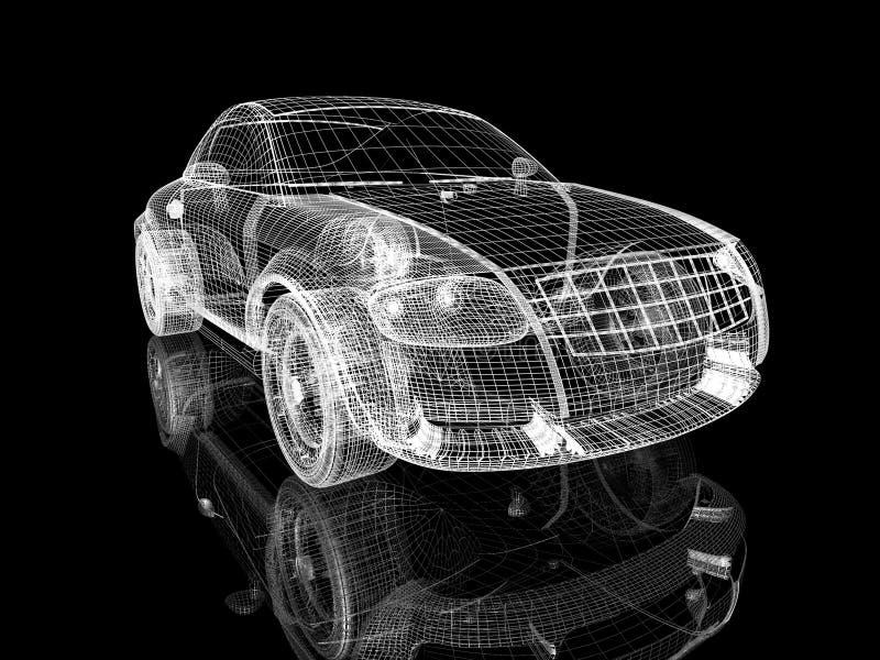budowa samochodów ilustracji