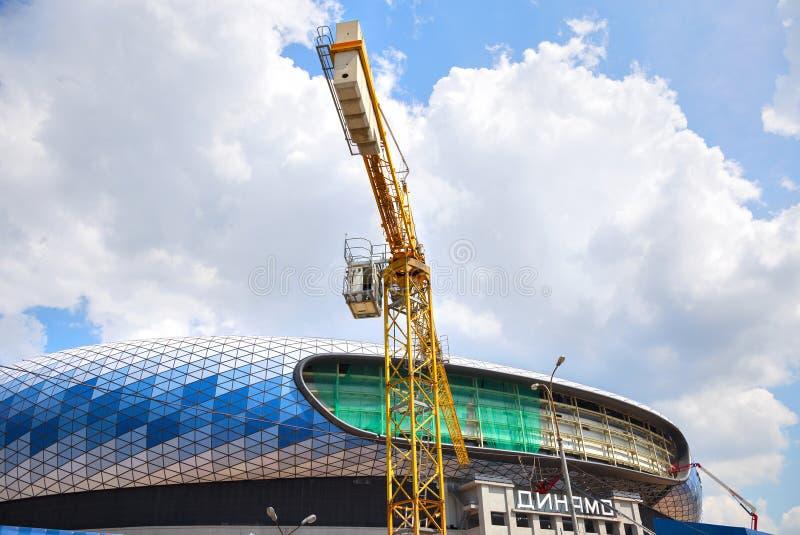 Budowa stadium dynamo w Moskwa zdjęcia stock