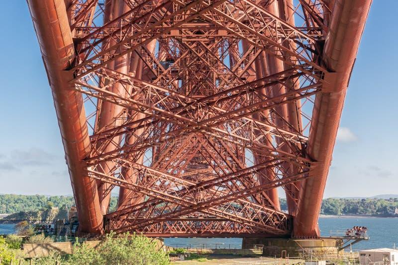 Budowa szczegółu dno Naprzód Przerzuca most nad Firth Naprzód, Szkocja obraz royalty free