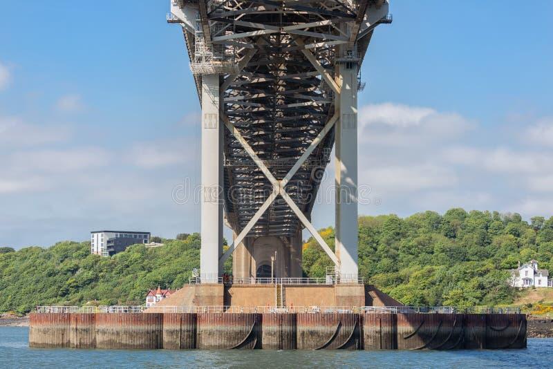 Budowa szczegółu Naprzód drogi most nad Firth Naprzód, Szkocja obrazy stock