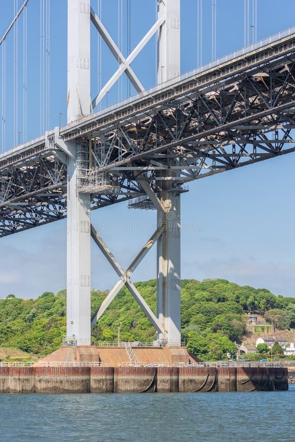 Budowa szczegółu Naprzód drogi most nad Firth Naprzód, Szkocja obraz royalty free
