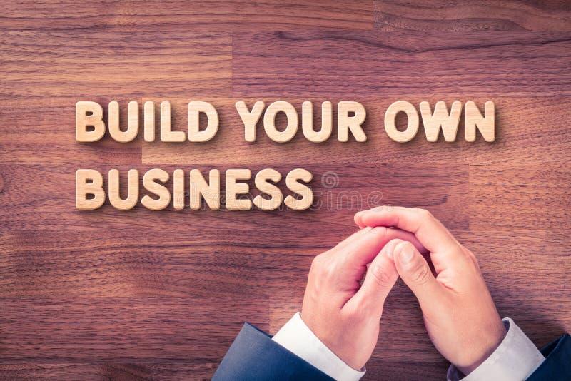 budowa twój biznes zdjęcia stock
