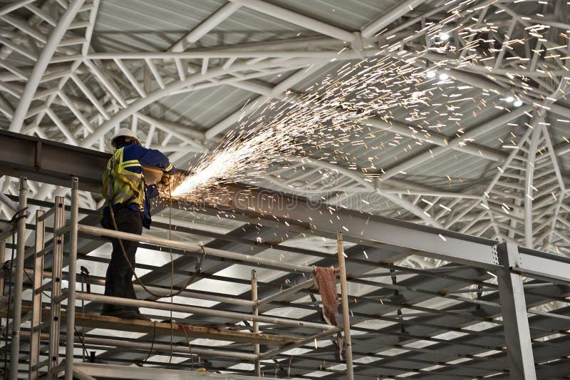 Budowa wśrodku lotniskowy śmiertelnie zdjęcia royalty free