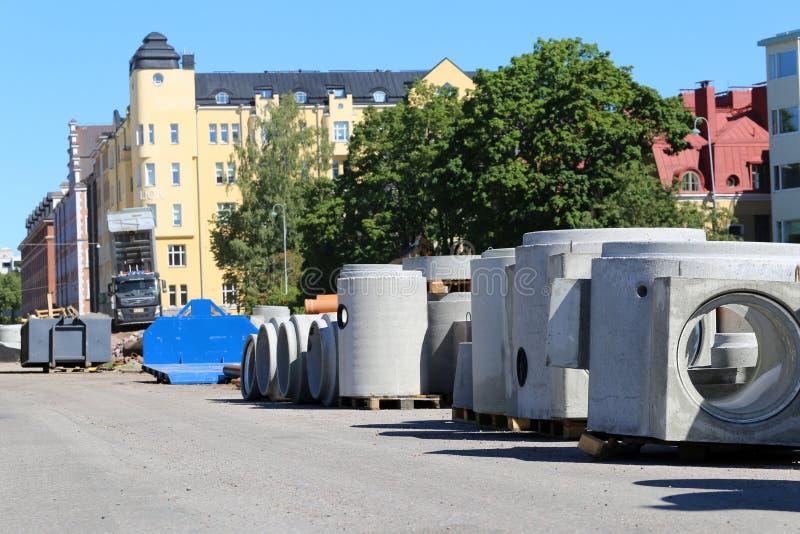 Budowa w Eira, W centrum Helsinki zdjęcia stock