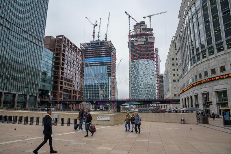 Budowa w Londyńskich docklands obrazy royalty free