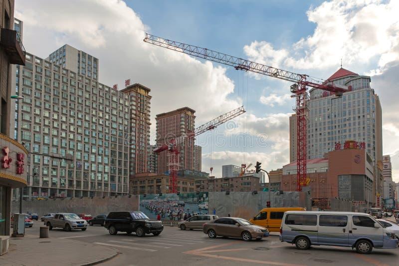 Budowa w Shenyang śródmieściu zdjęcia royalty free