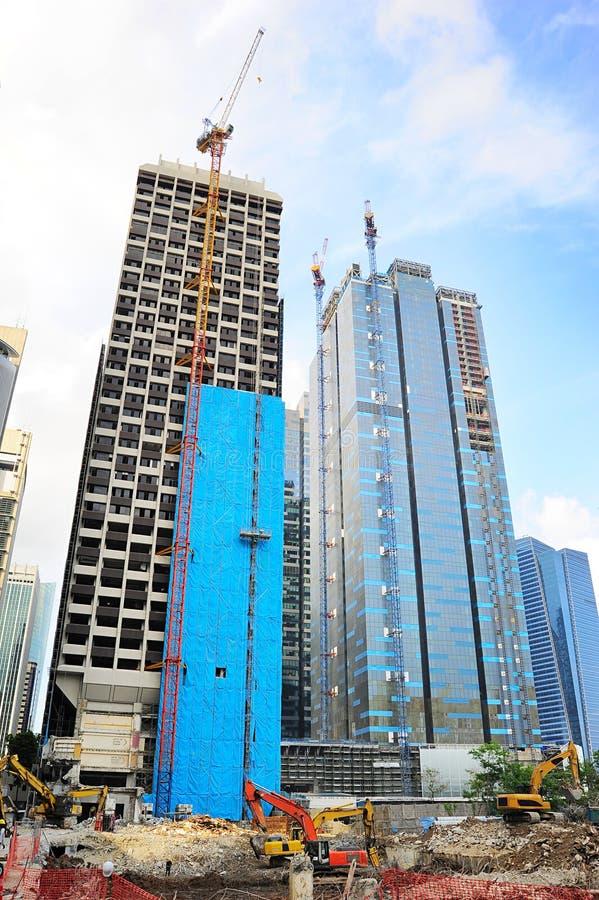 Budowa w Singapur fotografia royalty free