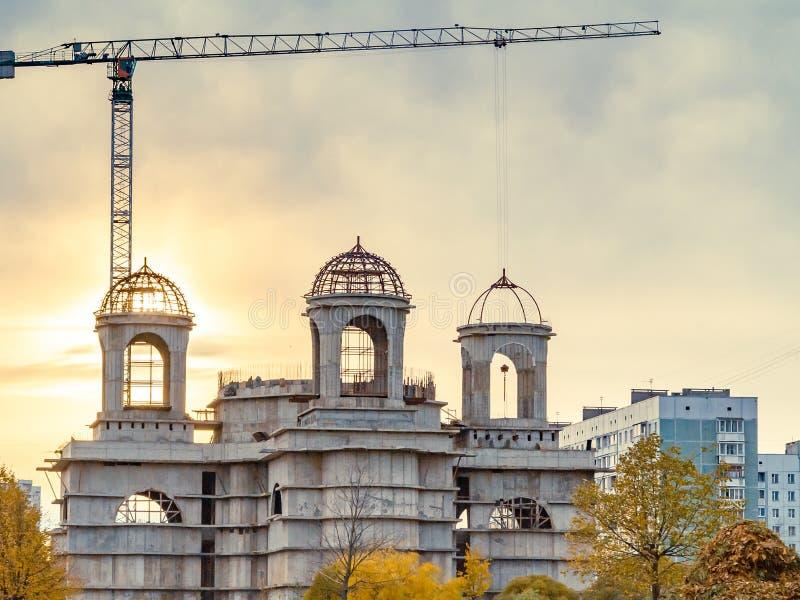 Budowa wielki Ortodoksalny ko?ci?? zdjęcia royalty free
