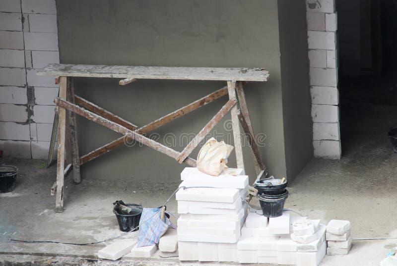 Budowa z praca terenem, Przemysłowa budowa obrazy royalty free