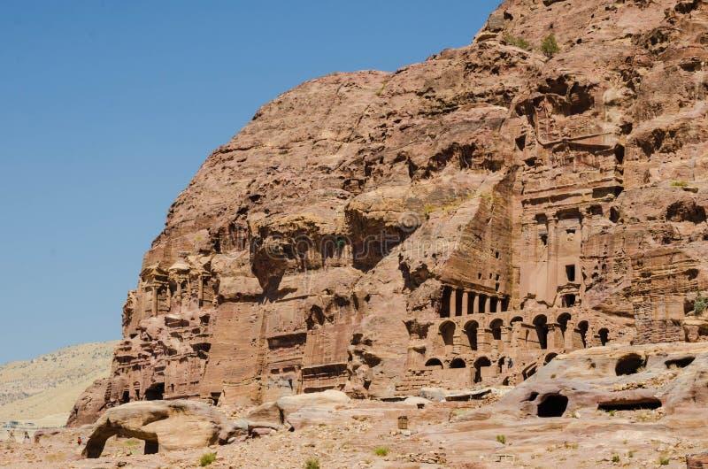 Budowa zaniechany miasto Petra zdjęcie royalty free