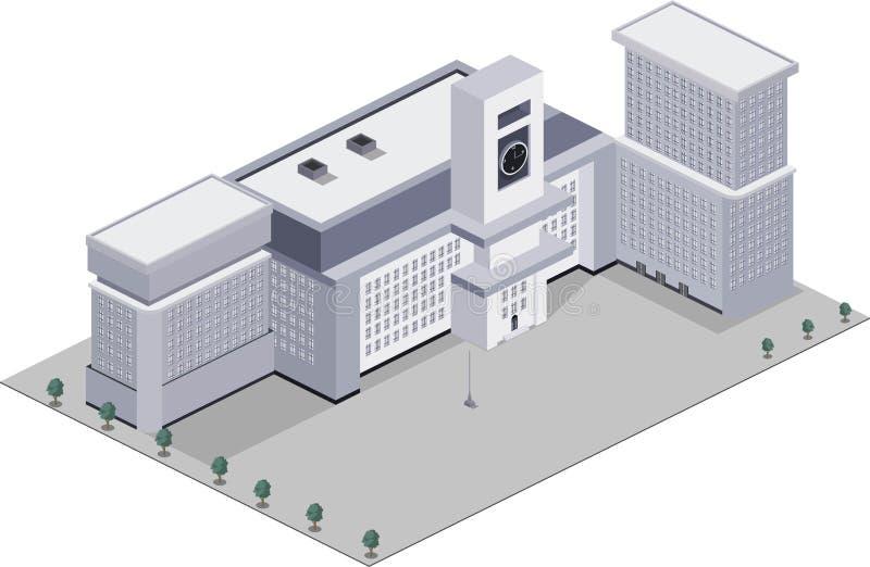 budowanie nowoczesnej szkoły zdjęcie royalty free