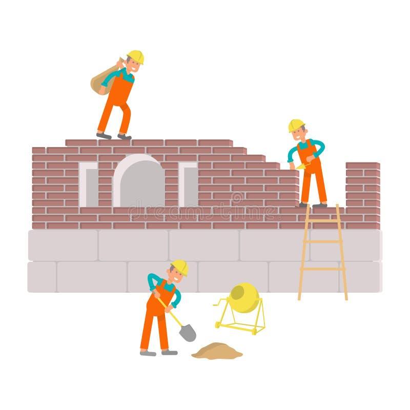 Budowniczowie pracują royalty ilustracja