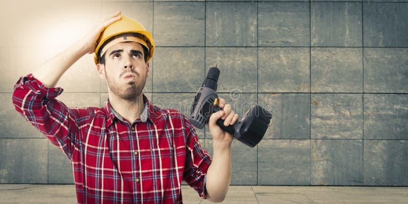 Budowniczy budowy tło fotografia stock