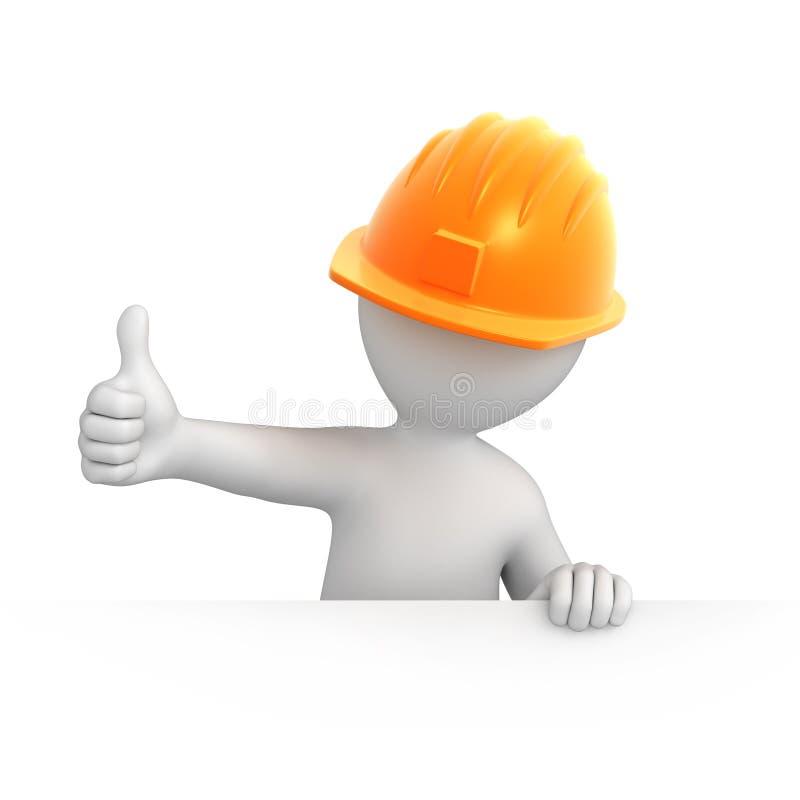 Budowniczy z kciukiem up royalty ilustracja
