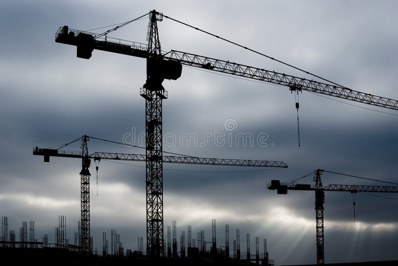 budowy żurawi miejsce zdjęcia stock