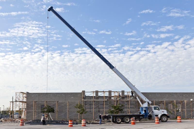 budowy żurawia miejsca ciężarówka zdjęcie royalty free