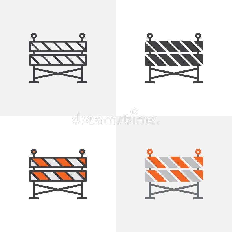 Budowy bariery ikona ilustracja wektor