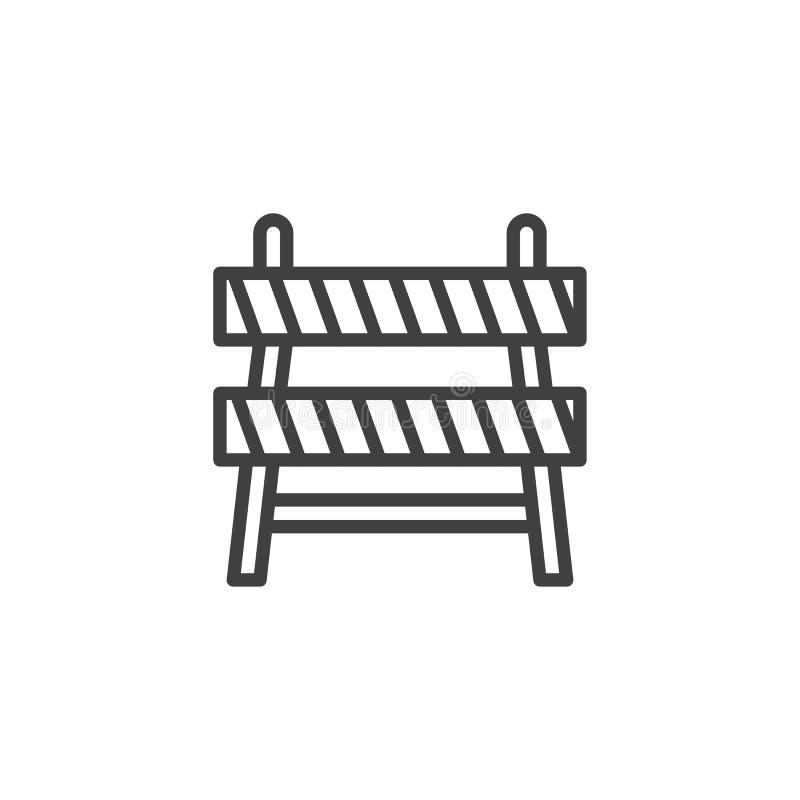 Budowy bariery linii ikona ilustracji
