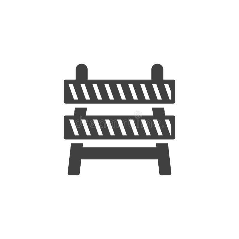 Budowy bariery wektoru ikona ilustracja wektor